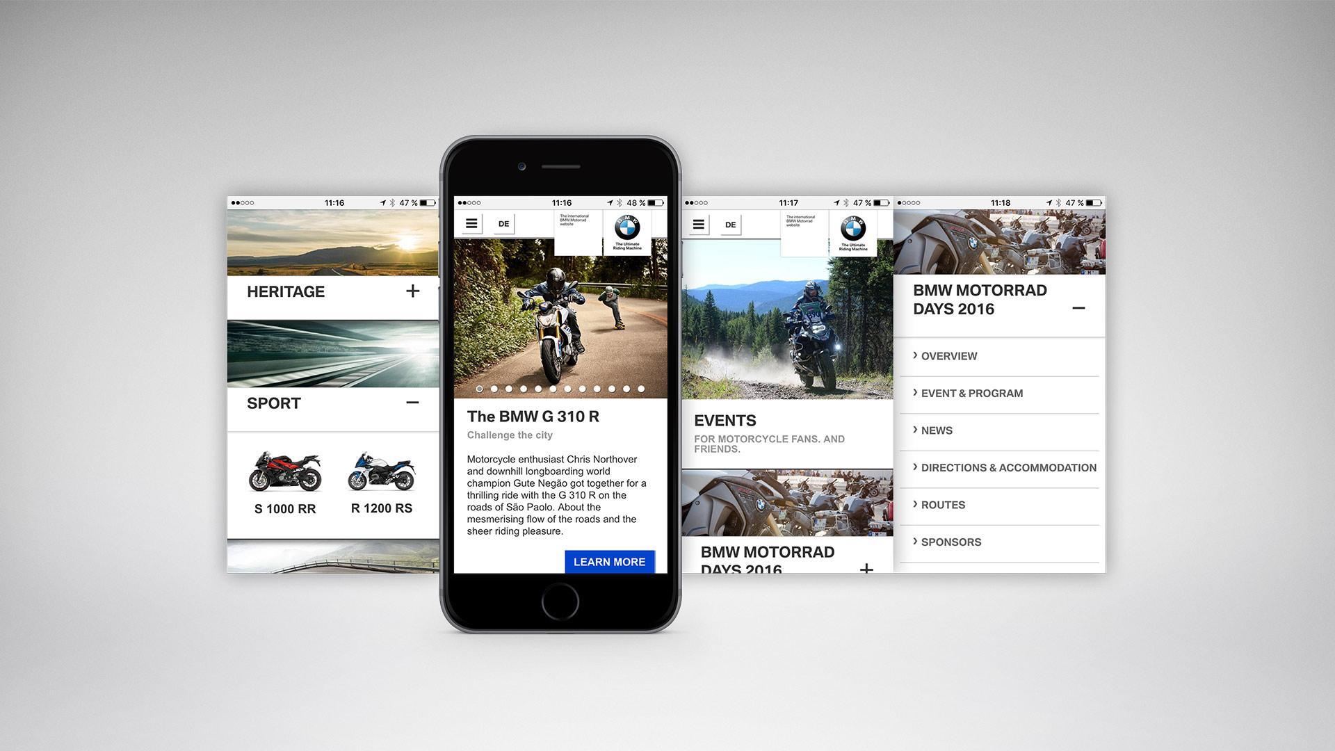 BMW Motorrad mobiles Portal - Beratung, Strategie, Projektmanagement
